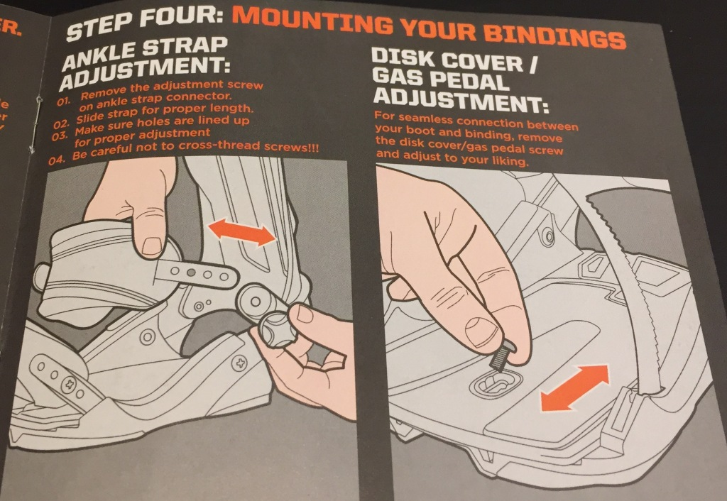 Step Four: Mounting Your Bindings - Ankle Strap Adjustment and Gas Pedal Adjustment